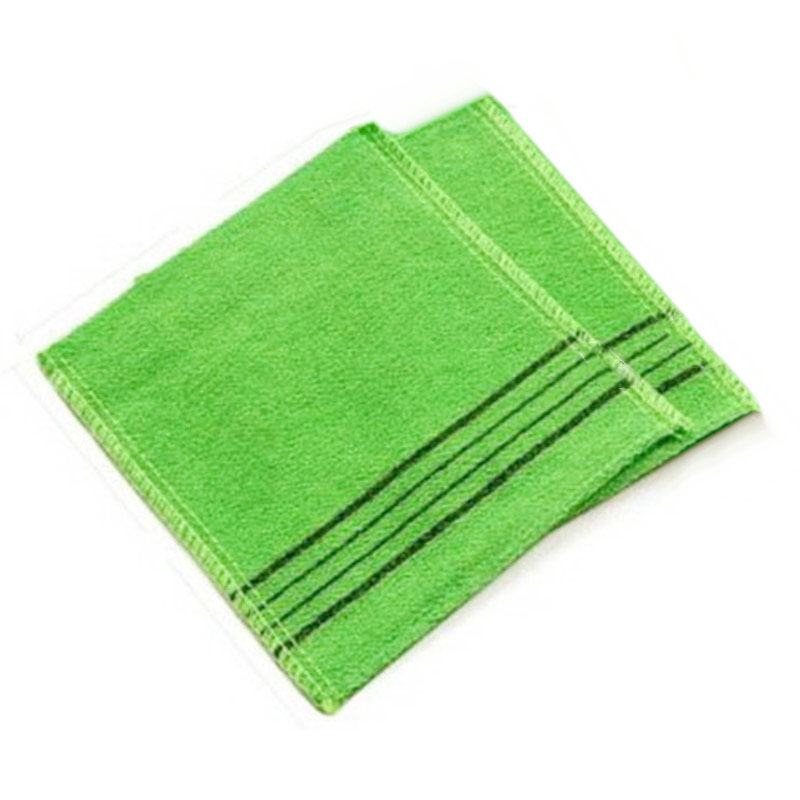 1pc  Korean Italy Exfoliating Body-Scrub Glove Towel Green Red  B$CA