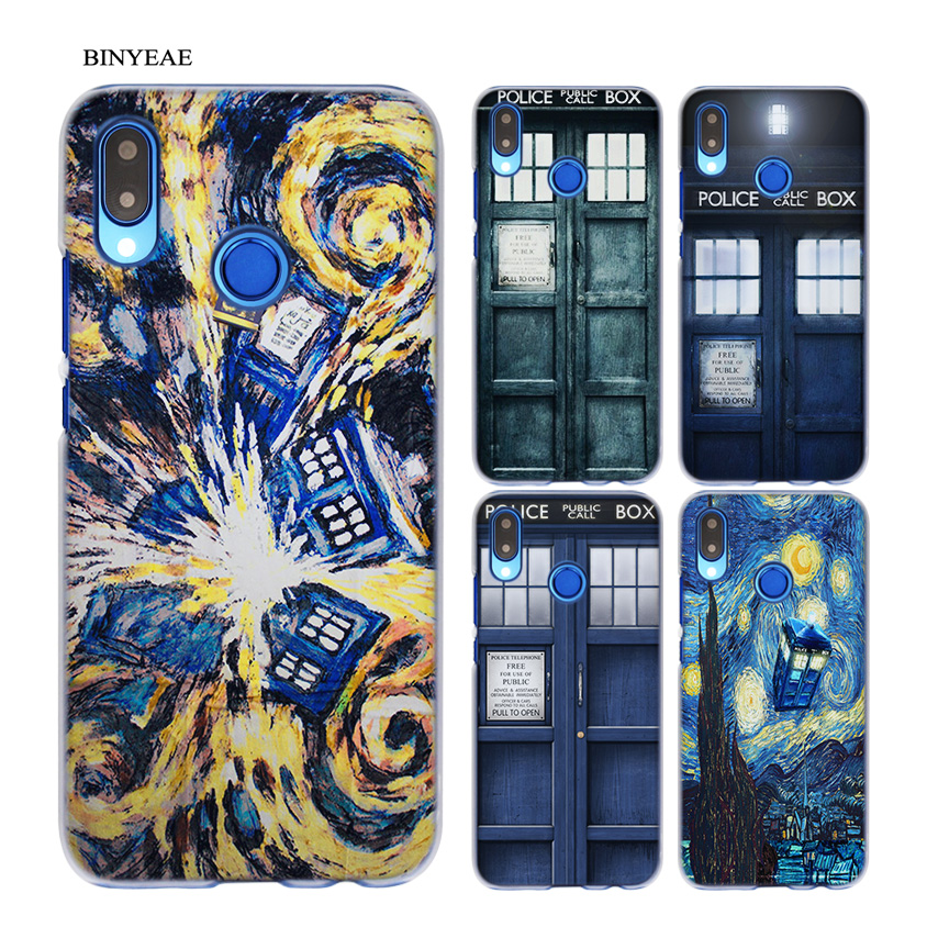 Binyeae Tardis Box Doctor Who Transparent Hard Case Cover Coque Shell For Huawei P20 Lite 10 Lite P Smart Half-wrapped Case Phone Bags & Cases