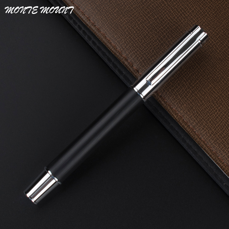 high quality MONTE MOUNT wood pen gift luxury school Office writing roller pen black ink Refill metal novelty roller ball Pen high quality monte mount business pen luxury school office stationery roller pen promotional metal roller ball pen refill