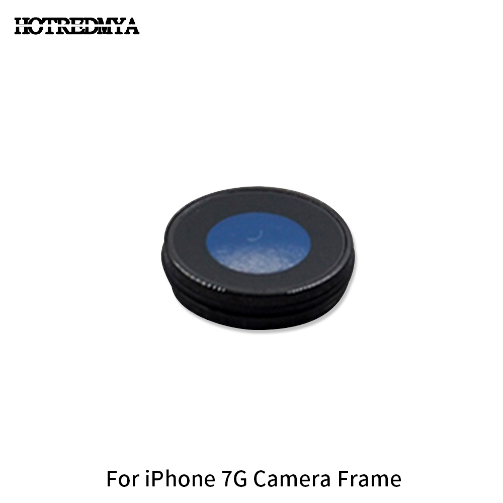50Pcs lot Back Rear Camera Glass Lens Frame For iPhone 7G 7 plus Sapphire Crystal Back Protector Glass Lens Black Color in Mobile Phone Lens from Cellphones Telecommunications