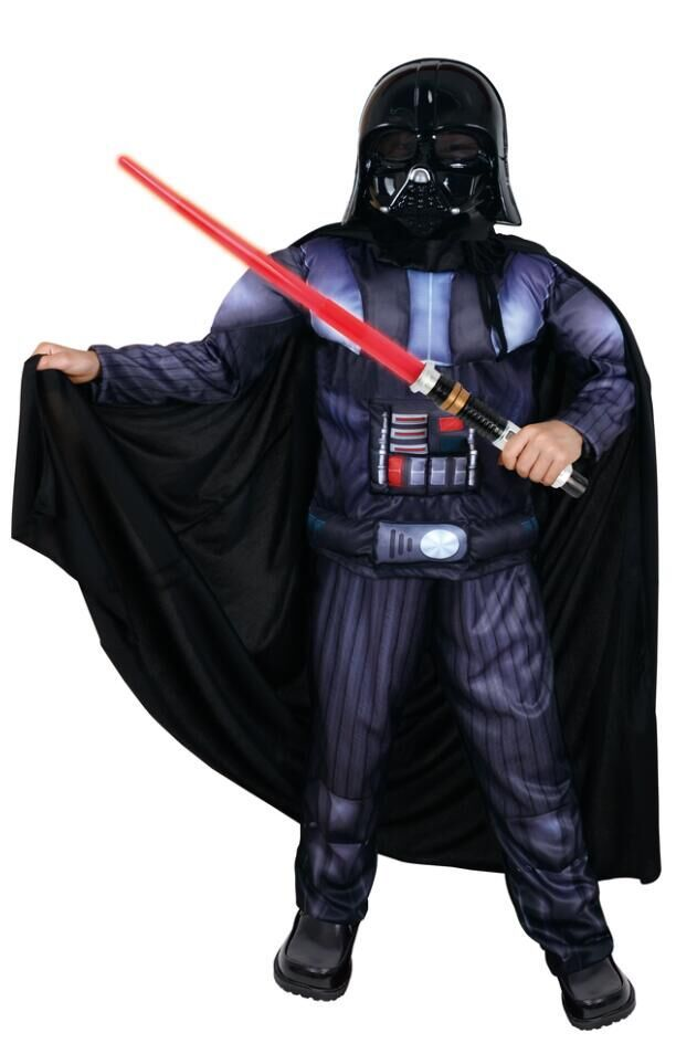 aliexpresscom buy muscle darth vaderanakin skywalker star wars costume suit kids movie costume for halloween party cosplay children costume from - Halloween Darth Vader