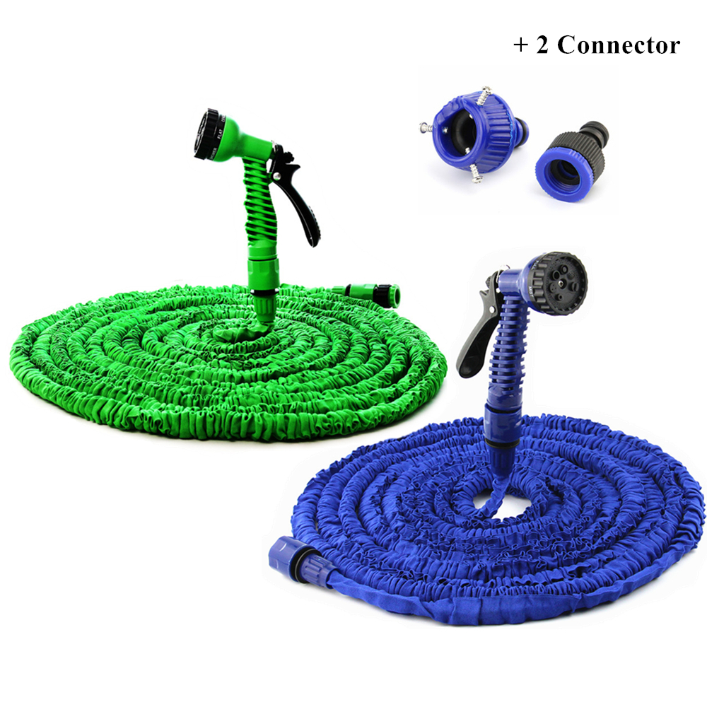 Hose New 50Ft Expandable Garden Water Hose Flexible Polyester Parachute Material