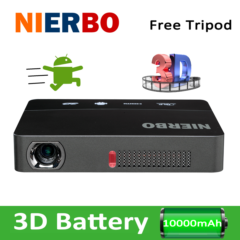 Nierbo pocket projector 1280x800 mini 3d portable battery for Mini pocket projector price