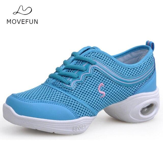Movefun Niñas mujeres transpirable danza sneakers rosa azul moderno danza  fitness profesores Jazz Zapatos zapatillas deportivas 7e1dd707285