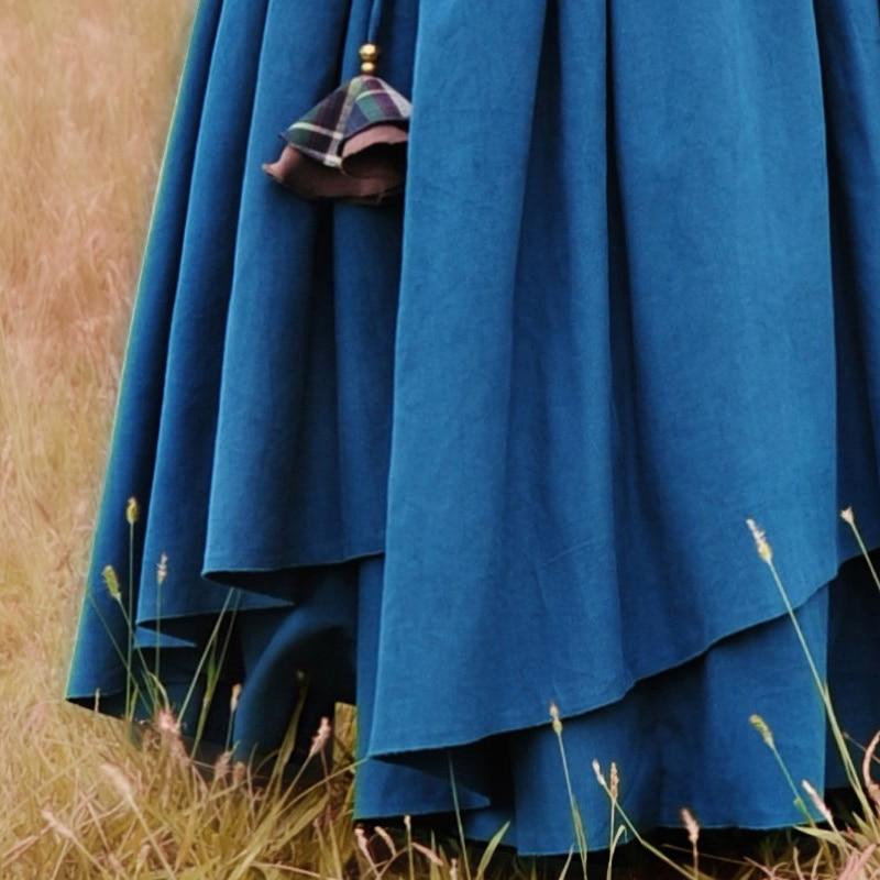 Invierno La Para Pana azul Envío Las E Bohemia Elástico Dobladillo Cintura Gratis Maxi 2019 Otoño Grandes Mujeres Boshow Largo Capas Navy Con púrpura Falda rojo De Blue RRSXxvTqw