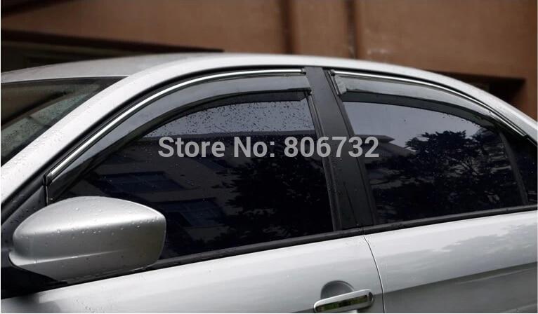 ФОТО US Shipping  Side Window Sun Shield Visors Vent Rain Wind Deflector Guard for Chevrolet Malibu 2013 2014
