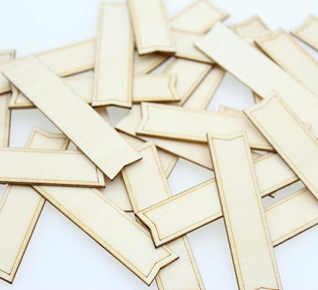 """Set of 300pcs Unfinished Wood blank tags for wedding Dominoes 2.5"""" wood rectangles, DIY supplies, Craft supplies 65mmx3mm"""