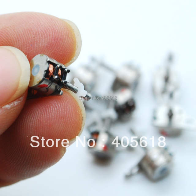 10PCS Japan Sanyo 4 Wire 2 Phase Mimi stepper motor 6x4.5mm Good quality
