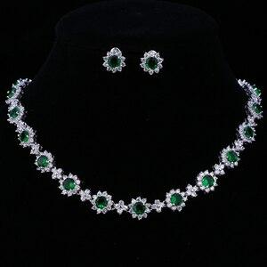 Image 5 - Emmaya ensembles de bijoux de luxe en cristal Zircon cubique, ensembles collier boucles doreilles pour femmes, fête de mariage