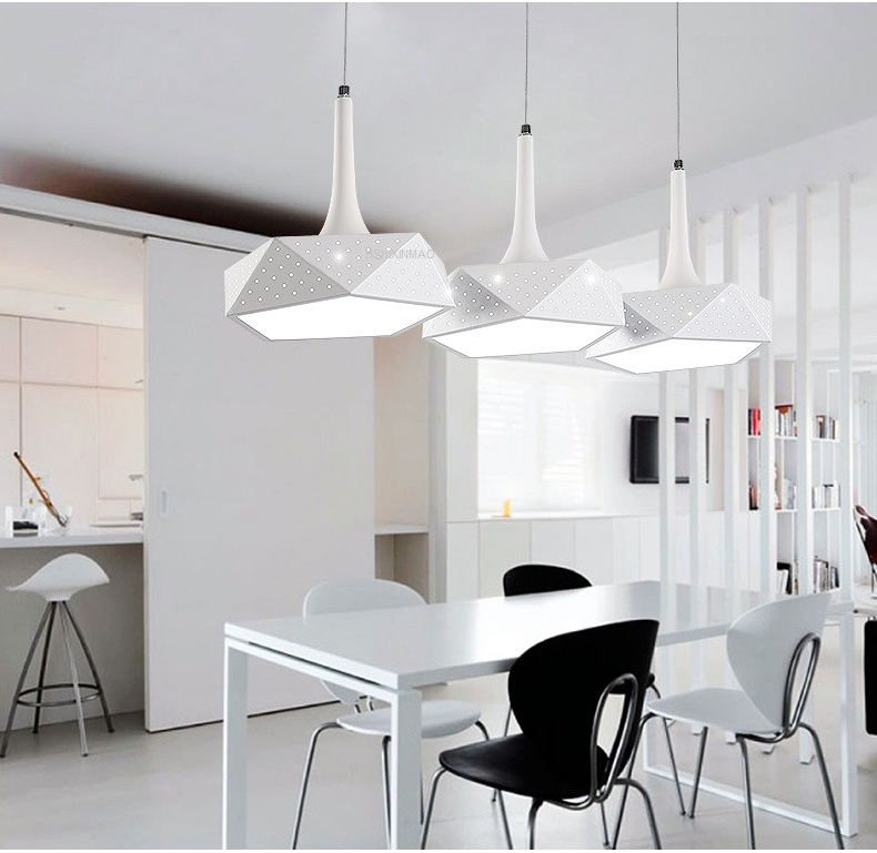 LED chandelier simple modern living room restaurant bar creative personality art Dimming Ceiling lights AC110-240V modern fashion simple circular wooden handle aluminum lid chandelier made of iron painting diameter 50cm ac110 240v