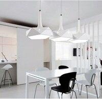 LED żyrandol proste nowoczesny salon restauracja pasek osobowości twórczej sztuki ściemniania lampy sufitowe AC110 240V w Wiszące lampki od Lampy i oświetlenie na