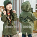 Free shipping Winter new children's clothing embroidery bats for boys and girls and cotton dust coat children's coat