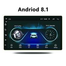 Universale 7 Pollici Android 8.1 wifi bluthtooth radio touch screen in dash Lettore multimediale con sistema di Navigazione gps per auto