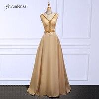 Yiwumensa robes graduacion cortos Champagnes robe De Bal 2018 Custom made Sexy V cou Cristal Perlé bleu royal robes de bal
