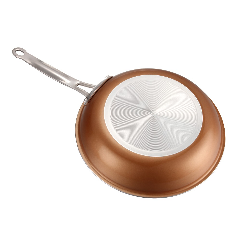 Non-stick Copper Frying Pan With Ceramic Coating And Induction Cooking,Oven & Dishwasher Safe 22/24/26/28cm Choose