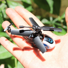 الأكثر مصغرة 3.5ch جيب مزدوجة بليد rc مروحية بدون طيار مع الدوران
