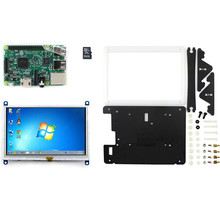 Buy online Raspberry Pi 5 inch hdmi screen  raspberries pie 3 generation of B type main borad  band 5 inch resistive screen shell SD card