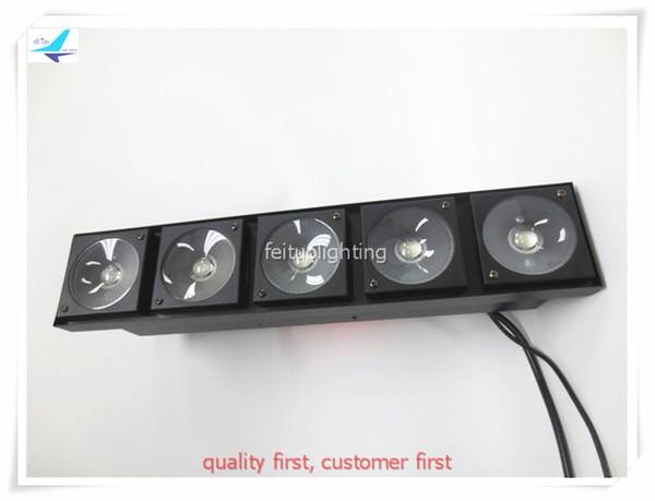 free shipping 2pcs Stage Bar Led Blinder Light 5x30w Warm White Matrix Panel COB Strip Wash High Brightness DMX Disco DJ Lights