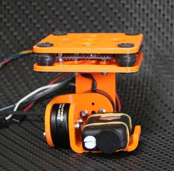 3D Printed 2 Axis Brushless Camera Mount Gimbal Kit for Mobius 808#16 Camera gimbal camera protector 3d printed camera cover dust proof cover for yuneec q500