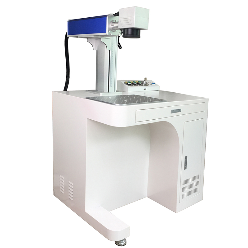 Raycus Fiber Laser Marking Machine 30W 300x300mm Ddesktop Fiber Laser Engraving Machine With Chuck Rotary And Ring Rotary
