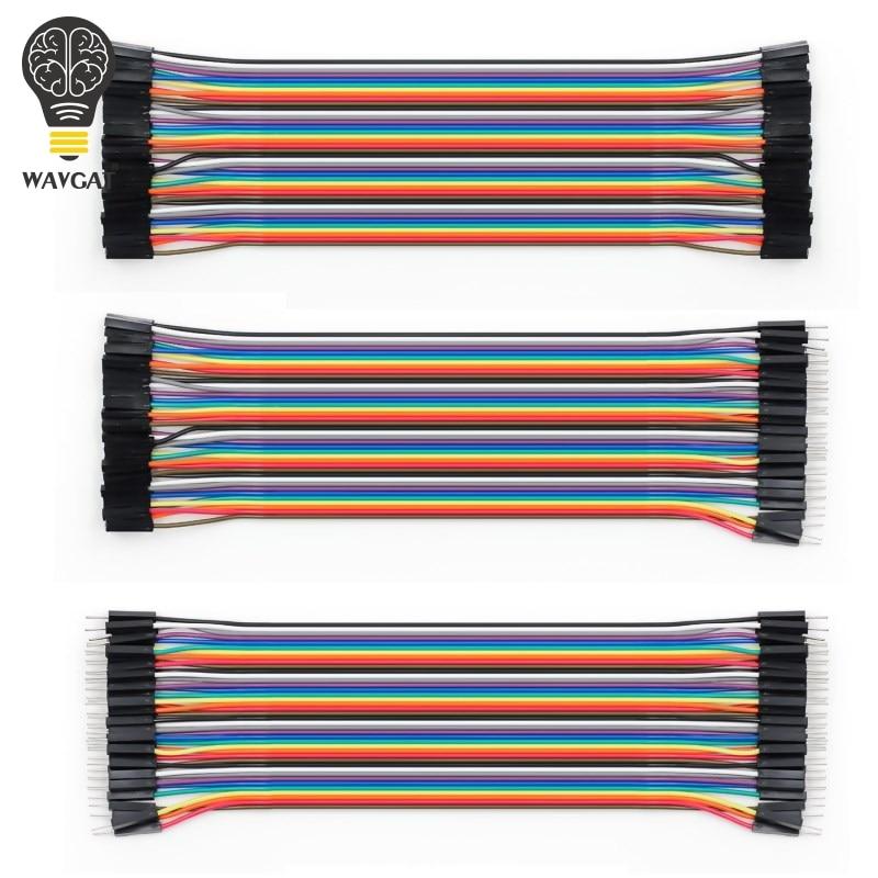 WAVGAT Dupont line 120 шт. 20 см мужской+ мужской женский и Женский Соединительный провод Dupont кабель для Arduino