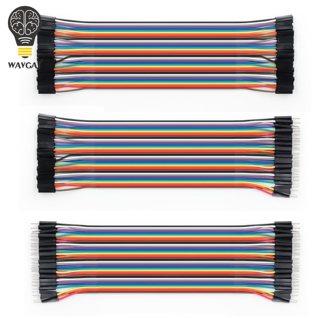 WAVGAT Dupont line 120pcs 20cm male to male + male to female and female to female jumper wire Dupont cable for Arduino 2