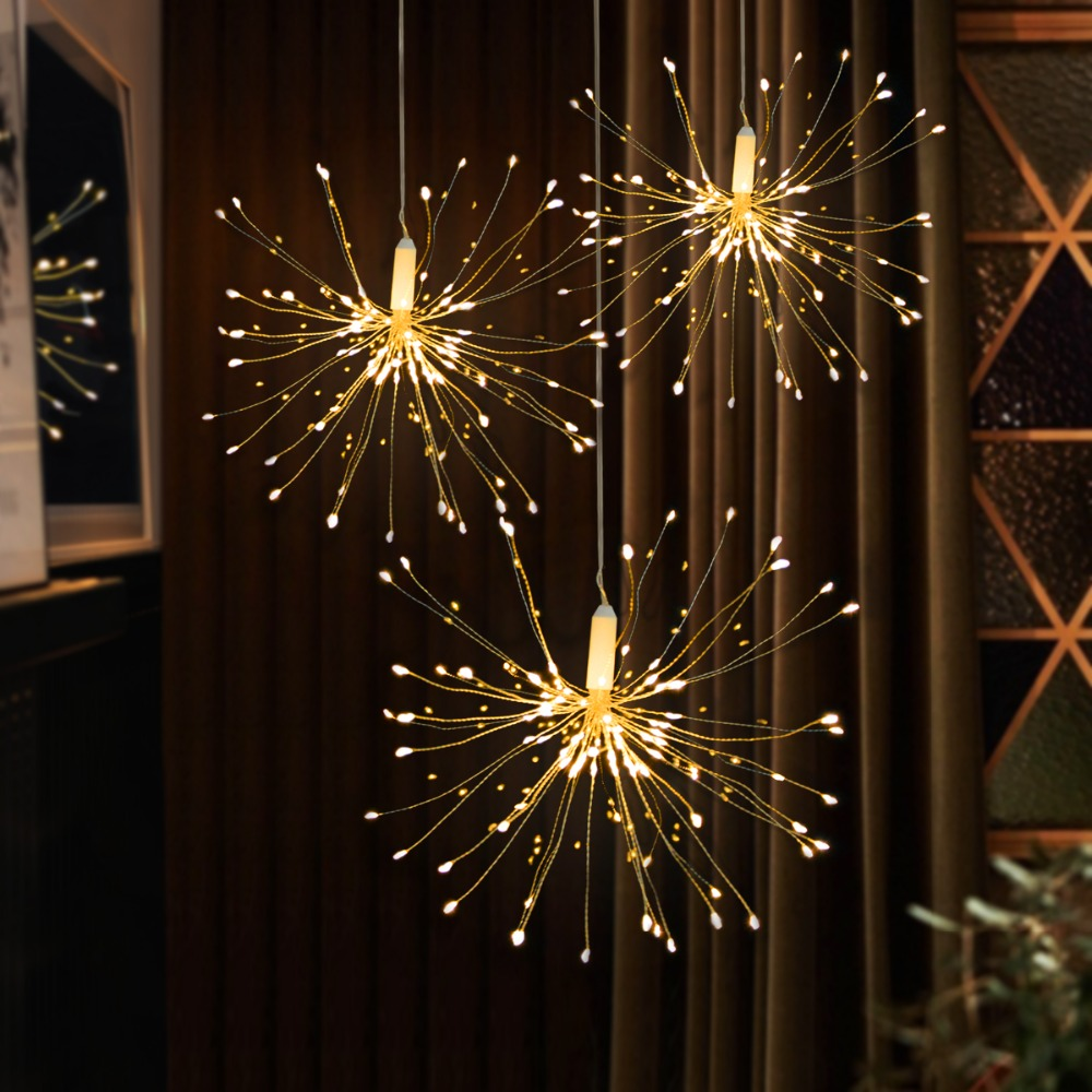 Diy Fireworks Solar String Lights For Garden Decoration Bouquet