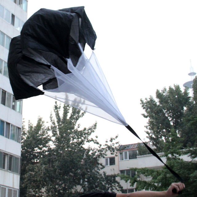 gohantee Soccer Speed Resistance Training Parachute Running Chute Football Accessories Adjustable Training Parachute Umbrella