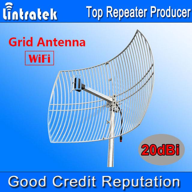 NOVO 20dBi Rede WiFi Antena Antena Externa Grande Cobertura para 2.4 GHz WIFI Antena Parabólica de Grade Quadrada Malha Antena Ao Ar Livre uso