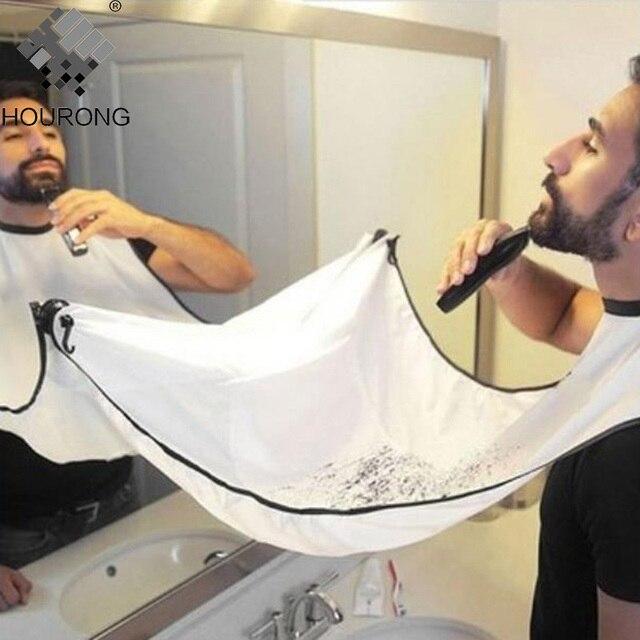 1 pz Barba Maschile Grembiule Uomini Taglio di Capelli Grembiule Impermeabile Fl