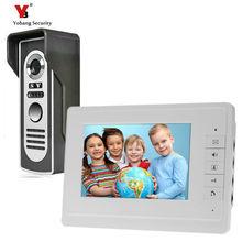 Yobang Seguridad 7 pulgadas a Color Teléfono de La Puerta A Prueba de Lluvia Monitor de Vídeo de Cámaras de Seguridad Video de La Puerta Espectador de La Puerta de intercomunicación de Vídeo Del Monitor LCD