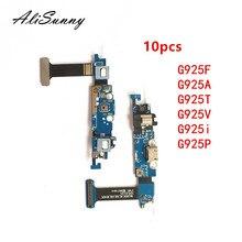 10 шт. гибкий кабель зарядного порта AliSunny для SamSung Galaxy S6 Edge G925F G925A G925T G925V G925i, детали соединителя USB