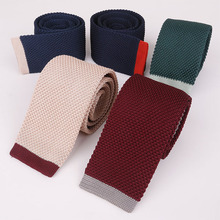 Mantieqingway Mens Suits Knitted Ties for Wedding Skinny Knitting Necktie Male Woven Vestidos of Corbatas Collar Tie