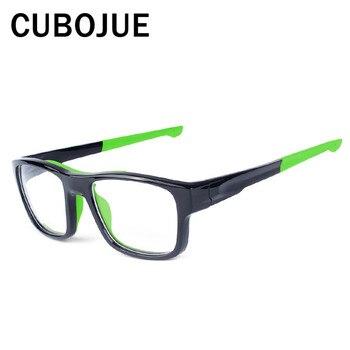 afb0755171 Cubojue TR90 deportes gafas de sol de las mujeres de los hombres  fotosensibles UV400 Anti-Explosión de grado óptico de baloncesto de fútbol
