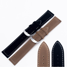 A076 22mm 18mm Black Brown Watchbands Pin Buckle Bracelet Leather Watch Band for Women Size White Watch Strap Watch Clock Men
