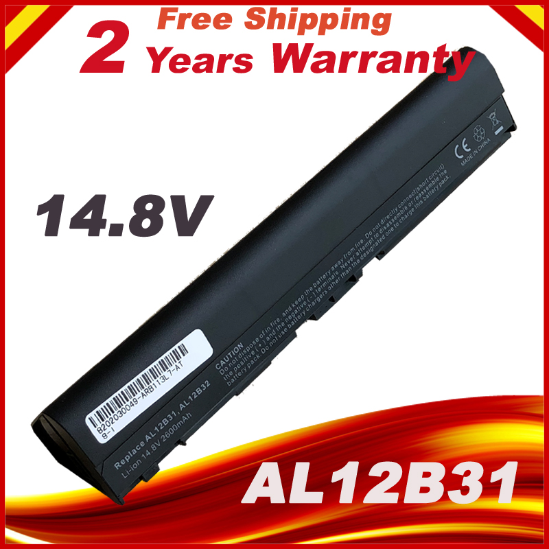 14.8V Laptop Battery For Acer Aspire One 725 756 V5 171 AL12A31 AL12B31 AL12B32 TravelMate B113