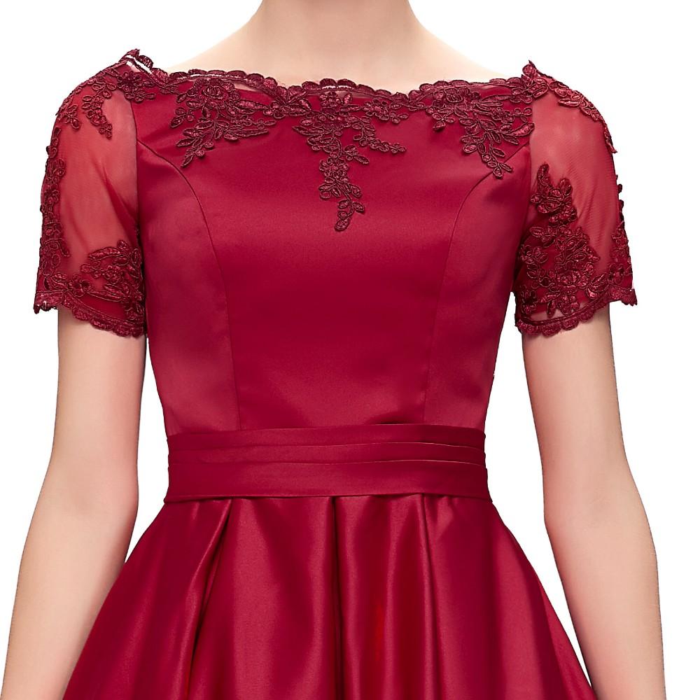 Short Cocktail Dresses 2018 Grace Karin Off The Shoulder robe de Cocktail Wedding Party Dress Satin Champagne Red Coctail Dress 8