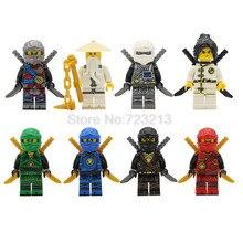 8 pçs/lote Ninjagoed Quente Figura Set Jay Kai Zane Lloyd Modelo kits de Blocos de Construção de Tijolos Brinquedos para As Crianças