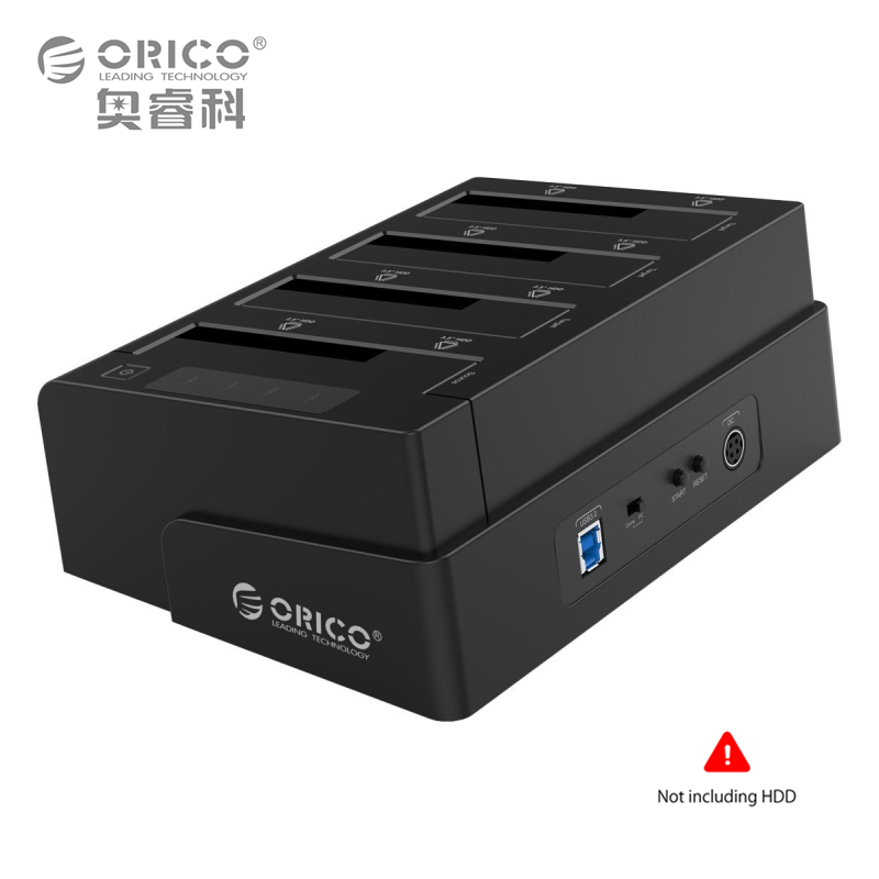 2.5 3.5 Inch USB 3.0 to SATA Hard Drive Docking Station/Duplicator Support MAX 24TB with 12V6.5A Power Adapter (ORICO 6648US3-C)