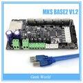 NOVA placa controladora Smoothieware MKS BASE2 V1.2 opensource Smoothieboard 32bit Braço Ethernet suporte pré-instalado dissipadores de calor