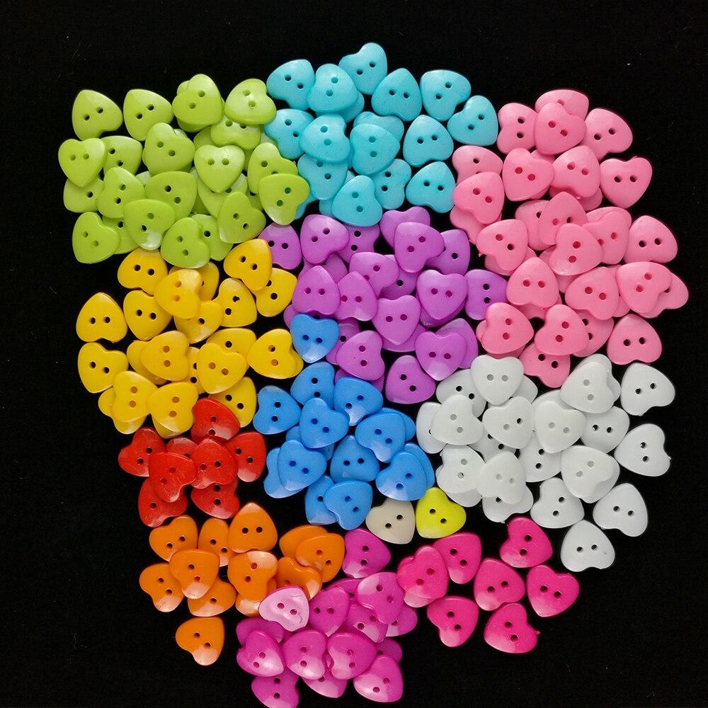 Полимерная пуговица для шитья в форме сердца смешанный 2 отверстия дети Костюмы кофта на пуговицах Одежда DIY швейные пуговицы Скрапбукинг 15/18 мм