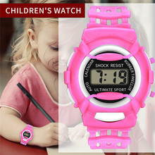 Нежный Детский светодиодный цифровой часы для девочек модные электронные спортивные студенческие Детские часы Детские Водонепроницаемые наручные часы Новинка А4