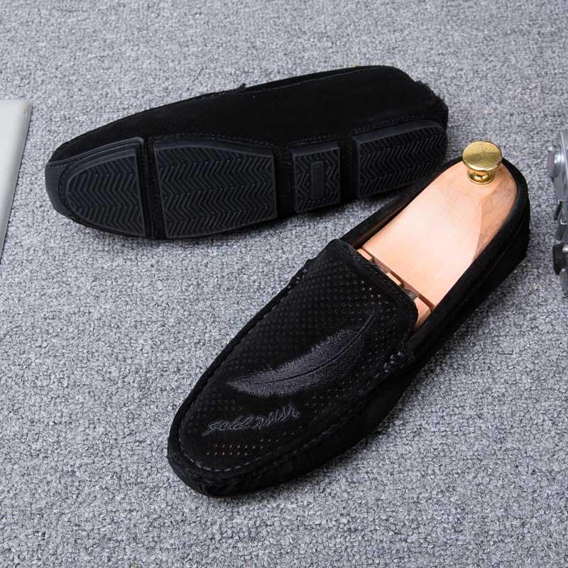 Mocassin Homme De Luxe Casual Loafers Men Shoes Breathable Footwear Fashion Male Shoes Slip On Men's Loafer Plus Size 11 Black