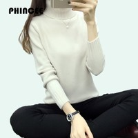 PHINCEE Pullovers And Sweaters For Women Warm 2017 Autumn Winter Turtleneck Knitting Coat Female Casual Knitwear