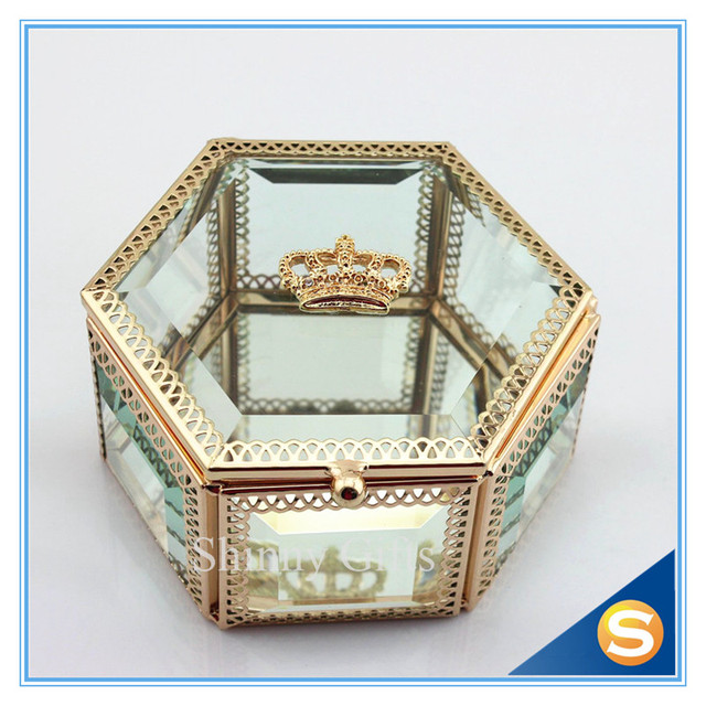 Wedding Gift Box Glass Jewelry Box Crystal Gift Box Jewelry Box with
