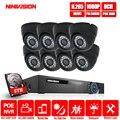 8CH POE 5MP безопасности NVR наборы аудио выход 2.0MP CCTV камера системы купол Крытый Открытый Всепогодный наблюдения комплекты 2 ТБ HDD