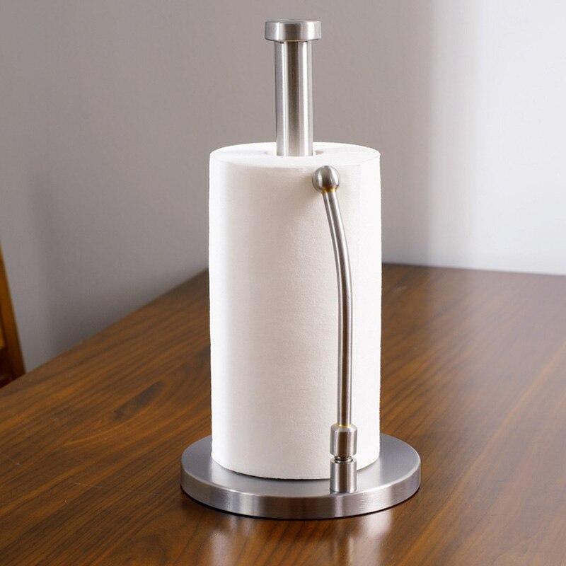 Hot Stainless Steel Toilet Paper Holder Tissue Towel Kitchen Roll Stand  Roll Tissure Holder Bathroom Storage