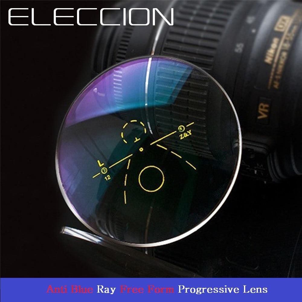 ELECCION 1 56 1 61 1 67 Anti Blue Ray Progressive Lens CR 39 Aspherical Multifocal