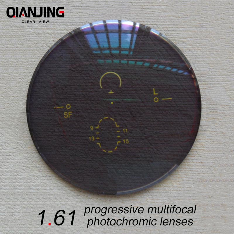 QJ 1.61 Super-Duro Forma Libera Progressive No-Linea Digitale Multi-Focal Prescrizione Personalizzata Lenti Ottiche Con Rivestimento AR
