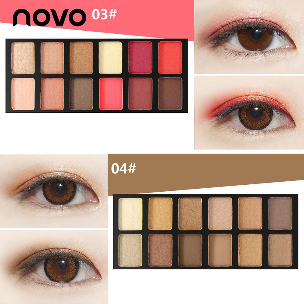 NOVO 10Colors Fashion Eyeshadow Palette Matte EyeShadow